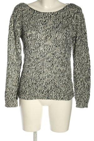 Vila Clothes Strickpullover schwarz-weiß Casual-Look