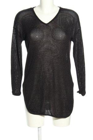 Vila Clothes Strickpullover schwarz Casual-Look