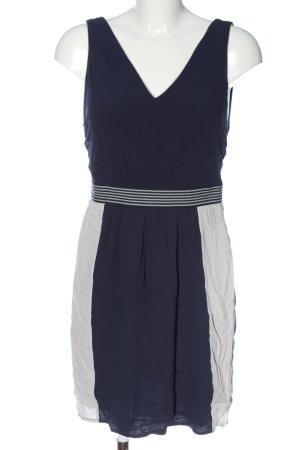 Vila Clothes Trägerkleid blau-weiß Streifenmuster Casual-Look