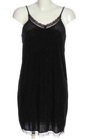Vila Clothes Trägerkleid schwarz Streifenmuster Elegant