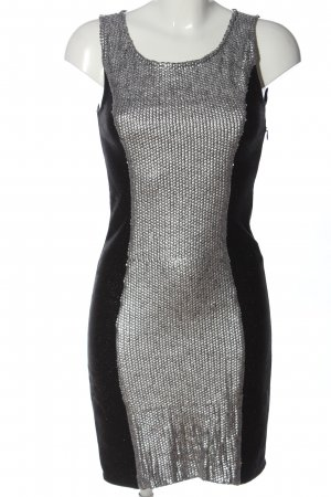 Vila Clothes Trägerkleid schwarz-silberfarben Business-Look