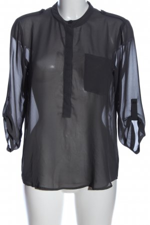 Vila Clothes Transparenz-Bluse hellgrau Casual-Look