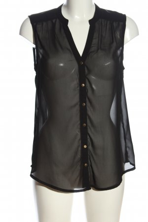 Vila Clothes Transparenz-Bluse schwarz Casual-Look
