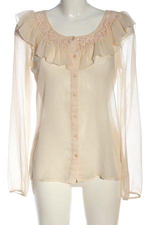 Vila Clothes Transparenz-Bluse creme Elegant