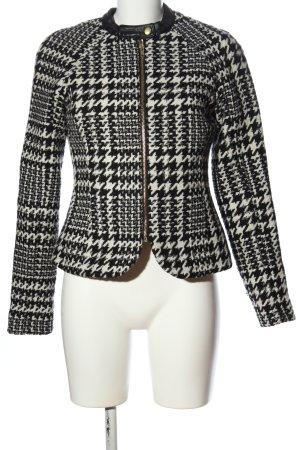 Vila Clothes Übergangsjacke schwarz-weiß Allover-Druck Business-Look