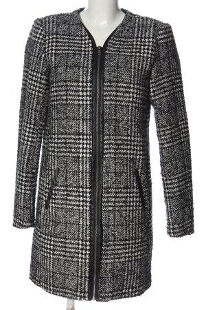 Vila Clothes Übergangsmantel weiß-schwarz Karomuster Casual-Look