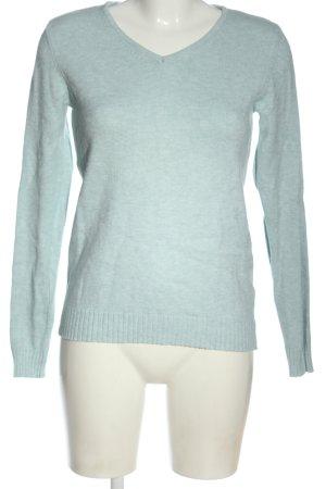 Vila Clothes V-Ausschnitt-Pullover blau Casual-Look