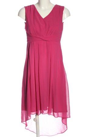 Vila Clothes Asymetryczna sukienka różowy Elegancki