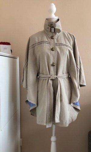 Vila Clothes Wilo Cape Oversized Poncho / Mantel in Beige Gr.M (38-42) NEU!