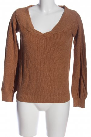 Vila Clothes V-Neck Sweater brown casual look