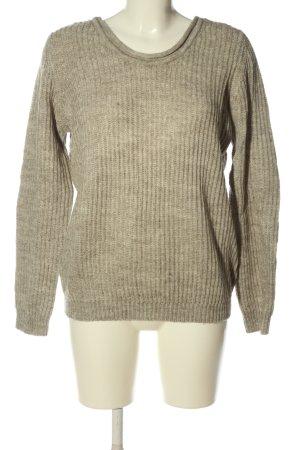 Vila Clothes Pull torsadé brun style décontracté