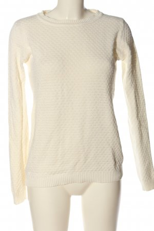 Vila Clothes Zopfpullover wollweiß Casual-Look