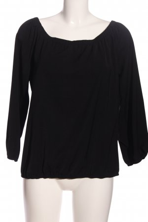 Vila Crash-Bluse schwarz Casual-Look