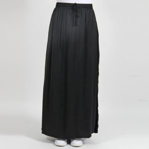 Vila Falda larga negro tejido mezclado