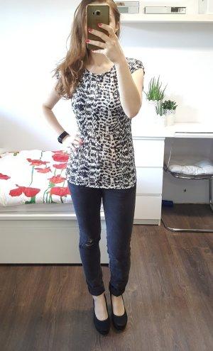 Vila Ethnal T-Shirt XS Animalprint schwarz/weiß/beige