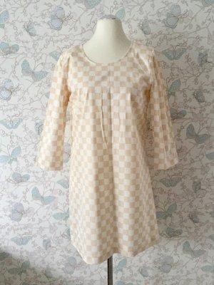 Vila Etui-Kleid (Checkmate Dress), weiß-beige, Gr.XL Neu