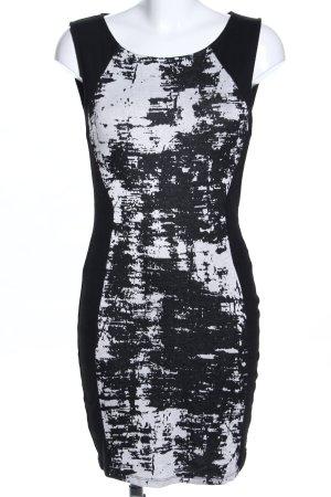 Vila Etuikleid schwarz-weiß abstraktes Muster Casual-Look