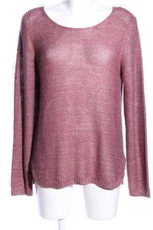 Vila Grobstrickpullover pink meliert Casual-Look
