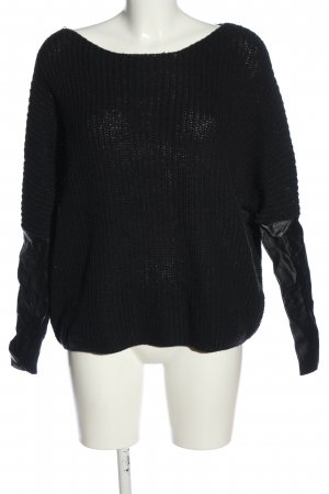 Vila Crochet Sweater black casual look