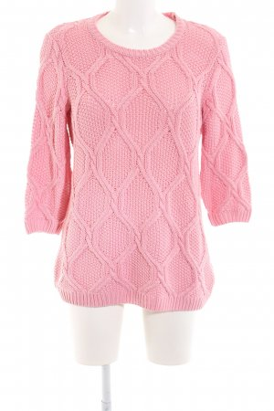 Vila Häkelpullover pink Casual-Look