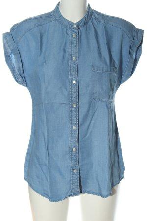 Vila Hemd-Bluse blau Casual-Look