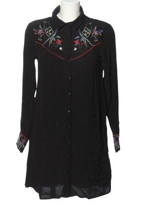 Vila Abito blusa camicia nero stile casual