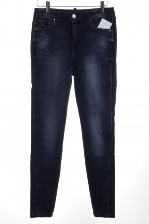 Vila Hoge taille jeans donkerblauw straat-mode uitstraling