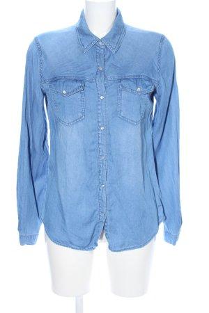 Vila Chemise en jean bleu style décontracté