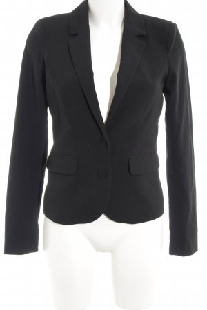 Vila Jerseyblazer schwarz Business-Look
