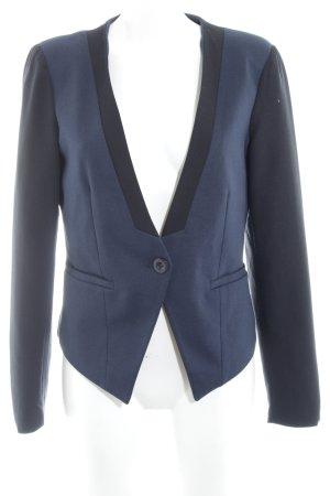 Vila Jerseyblazer schwarz-dunkelblau klassischer Stil