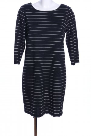 Vila Jerseykleid schwarz-weiß Allover-Druck Casual-Look