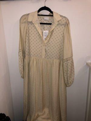 Vila Babydoll-jurk licht beige-zwart
