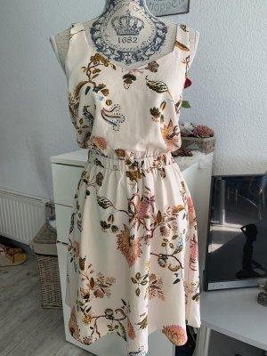 Vila Kleid - Größe 34 S - Flower/Blumen - Rosé/Color - ÄrmelRiemchen - Knielang
