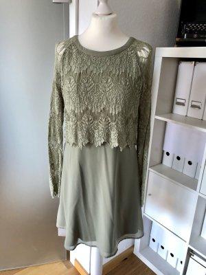 Vila Lace Dress olive green-green grey
