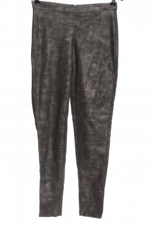 Vila Faux Leather Trousers bronze-colored-brown wet-look