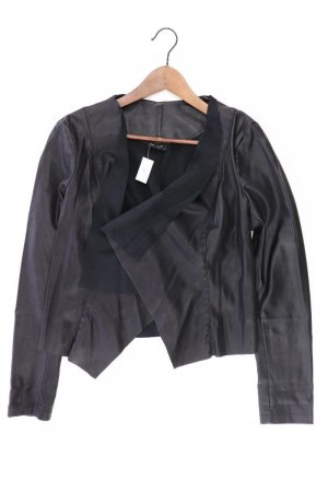 Vila Faux Leather Jacket black polyester