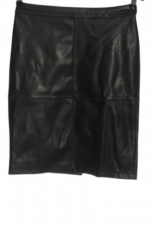 Vila Faux Leather Skirt black casual look