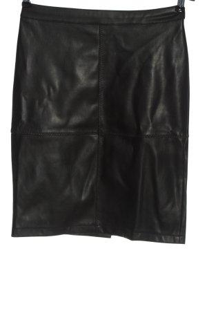 Vila Jupe en cuir synthétique noir style décontracté