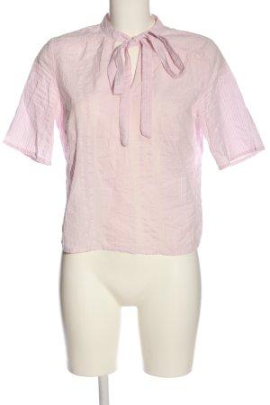 Vila Kurzarm-Bluse pink Casual-Look