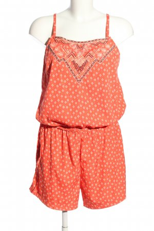 Vila Kurzer Jumpsuit red-white allover print casual look