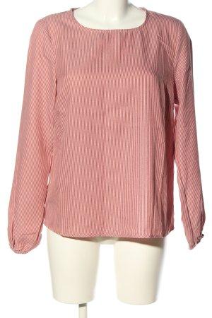 Vila Langarm-Bluse pink-weiß Streifenmuster Casual-Look