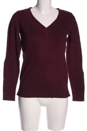 Vila V-Ausschnitt-Pullover rot Casual-Look