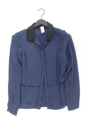 Vila Langarmbluse Größe M blau aus Polyester