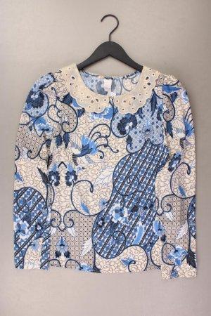 Vila Langarmbluse Größe S mit Paisleymuster blau aus Polyester