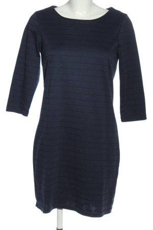 Vila Langarmkleid blau-schwarz Streifenmuster Casual-Look