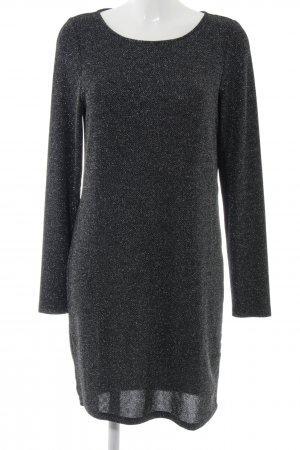 Vila Langarmkleid schwarz-silberfarben meliert Elegant