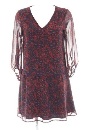 Vila Langarmkleid dunkelblau-rot abstraktes Muster Street-Fashion-Look