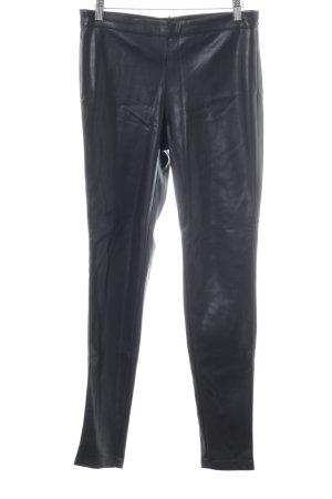 Vila Leren broek zwart casual uitstraling