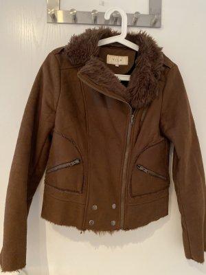 Vila Leather Jacket multicolored imitation leather