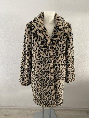 Vila Leo Leopard Teddybär Fake Fur Felljacke Pelz Pelzjacke Fell Mantel Teddymantel Kunst style so miu 38